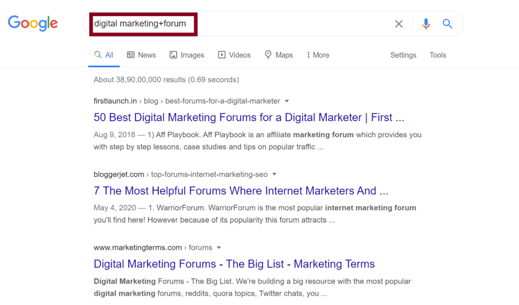 How to do a market research in google?